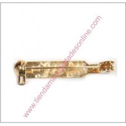 Alfiler broche  con seguridad 38mm Dorado