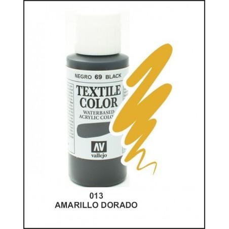 Pintura Textil Color Amarillo Dorado Nº013