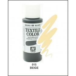 Pintura Textil Color Beige Nº015