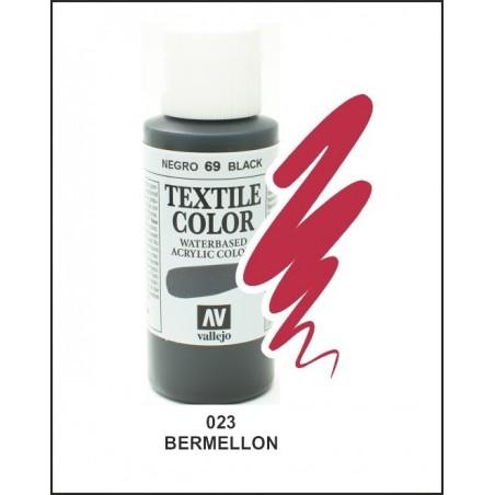 Pintura Textil Color Bermellón Nº023