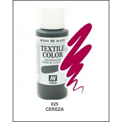 Pintura Textil Color Cereza Nº025