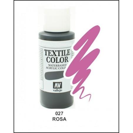 Pintura Textil Color Rosa Nº027