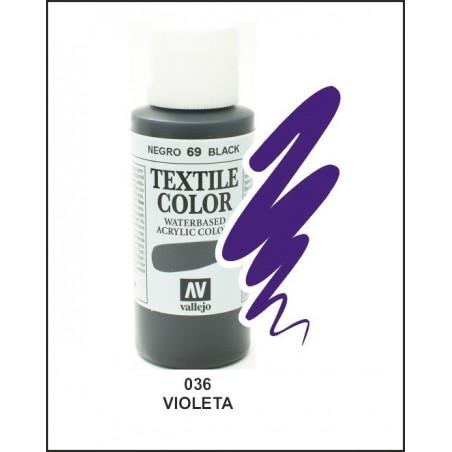 Pintura Textil Color Violeta Nº036