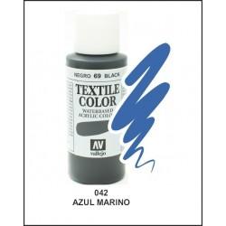 Pintura Textil Color Azul Marino Nº42