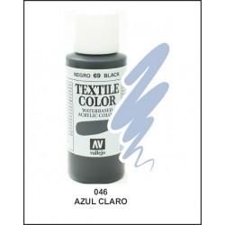 Pintura Textil Color Azul Claro Nº046