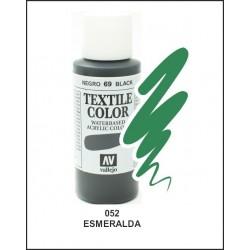 Pintura Textil Color Esmeralda Nº52