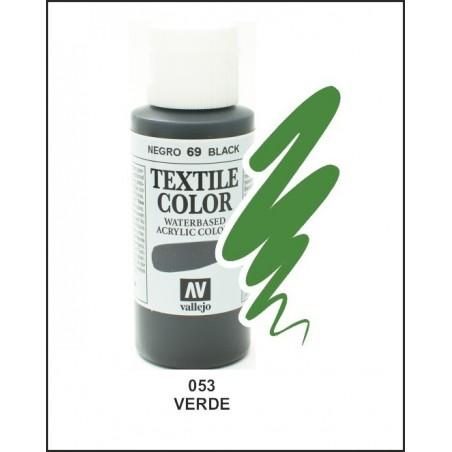 Pintura Textil Color Verde Nº53