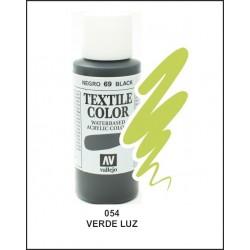 Pintura Textil Color Verde Luz Nº54