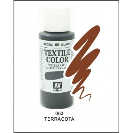Pintura Textil Color Terracota Nº63