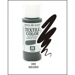 Pintura Textil Color Negro Nº69