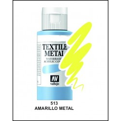 Pintura Textil Color Metal Amarillo Nº513