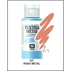 Pintura Textil Color Metal Rosa Nº527