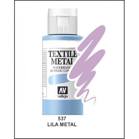 Pintura Textil Color Metal Lila Nº537