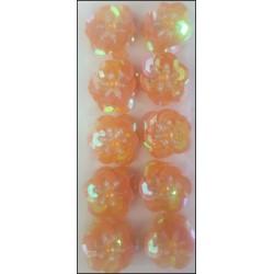 Flor de lentejuelas de 1.5 cms (Naranja)