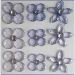 Flores Acrilica (Azul)