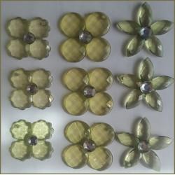 Flores Acrilica (Verde)