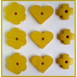 Surtido de piezas de madera (Amarillo)