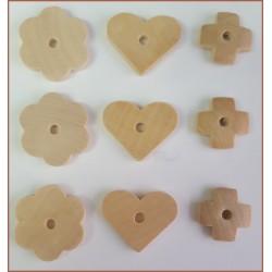 Surtido de piezas de madera (Natural)