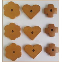 Surtido de piezas de madera (Marrón)