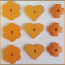 Surtido de piezas de madera  (Naranja)