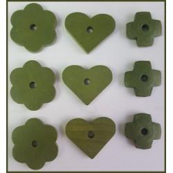 Surtido de piezas de madera  (Verde)