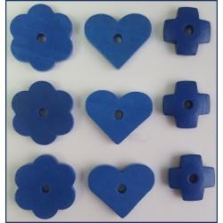 Surtido de piezas de madera  (Azul)