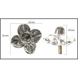 Flor de cristal de 33*28mm
