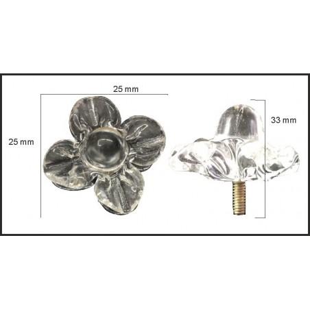 Flor de cristal de 33*25mm