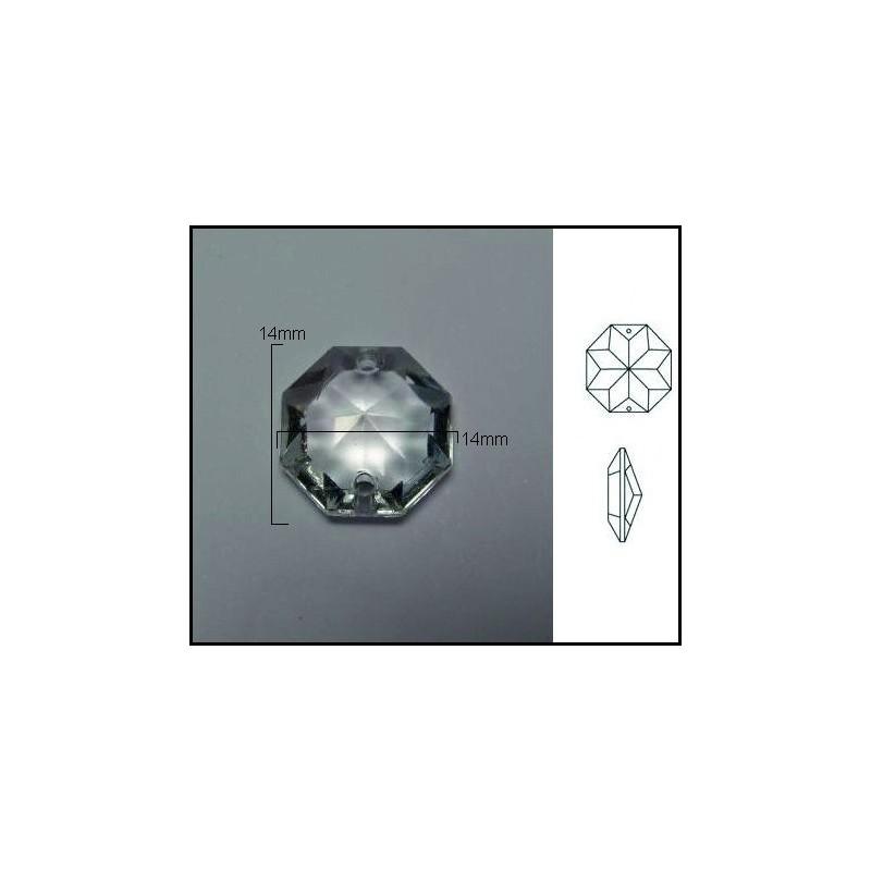 Pieza de cristal de 14*14mm 1 Agujero