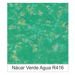 1/10 Acetato color Nácar Verde Agua  R416
