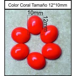 Cabuchón Coral 12*10mm(25 Uds)