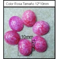 Cabuchón Rosa Quar 12*10mm(25 Uds)