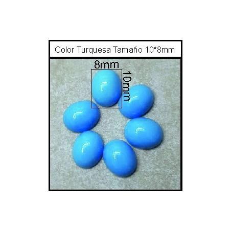 Cabuchón Turquesa 10*8mm(25 Uds)