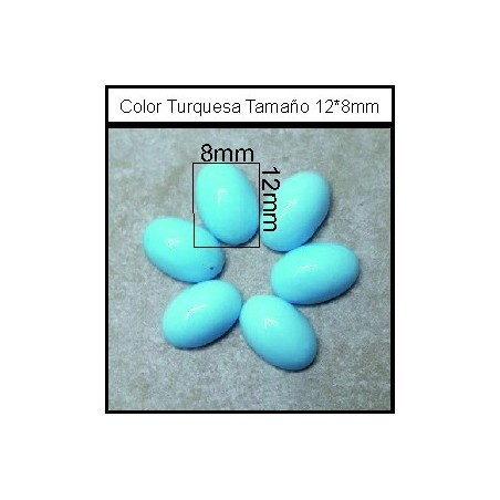 Cabuchón Turquesa 12*8mm(25 Uds)