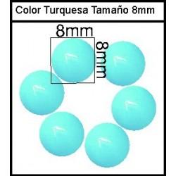 Cabuchón Turquesa 8 mm(25 Uds)