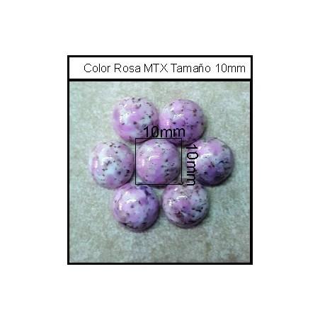 Cabuchón Rosa MTX 10 mm(25 Uds)