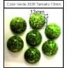 Cabuchón Verde 3836 13 mm(25 Uds)