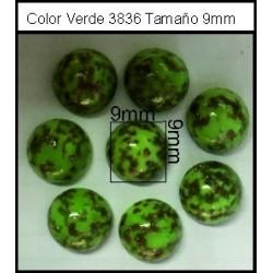 Cabuchón Verde 3836 9mm(25 Uds)