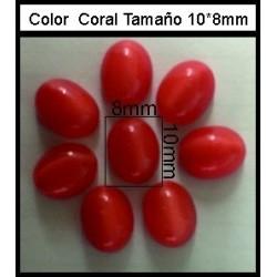 Cabuchón Coral 10*8mm(25 Uds)