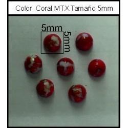 Cabuchón Coral 5mm(25 Uds)