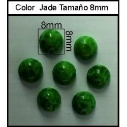 Cabuchón Jade 8mm(25 Uds)