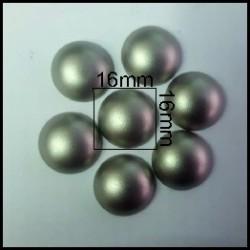 Cabuchón Plata 16 mm(25 Uds)