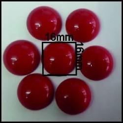 Cabuchón Rojo 16 mm(25 Uds)