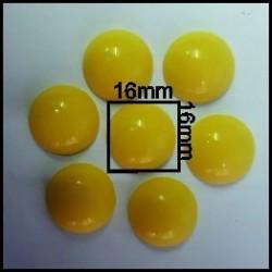 Cabuchón Amarillo 16 mm(25 Uds)