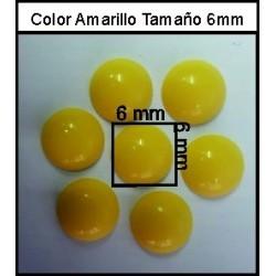 Cabuchón Amarillo 6 mm(50 Uds)