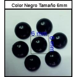 Cabuchón Malval 6 mm(50 Uds)