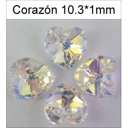 Corazón Swarovski 10,3*10 mm(25 Uds)