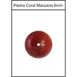 Piedra Coral Manzana 6mm