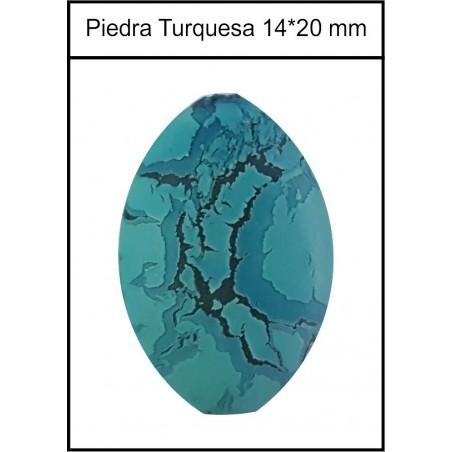 Piedra Oval 14*20mm Turquesa