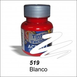 Pintura acrilex 37ml. Blanco